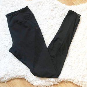 LULUS Solid Black & Mesh Panel Leggings Sz Small